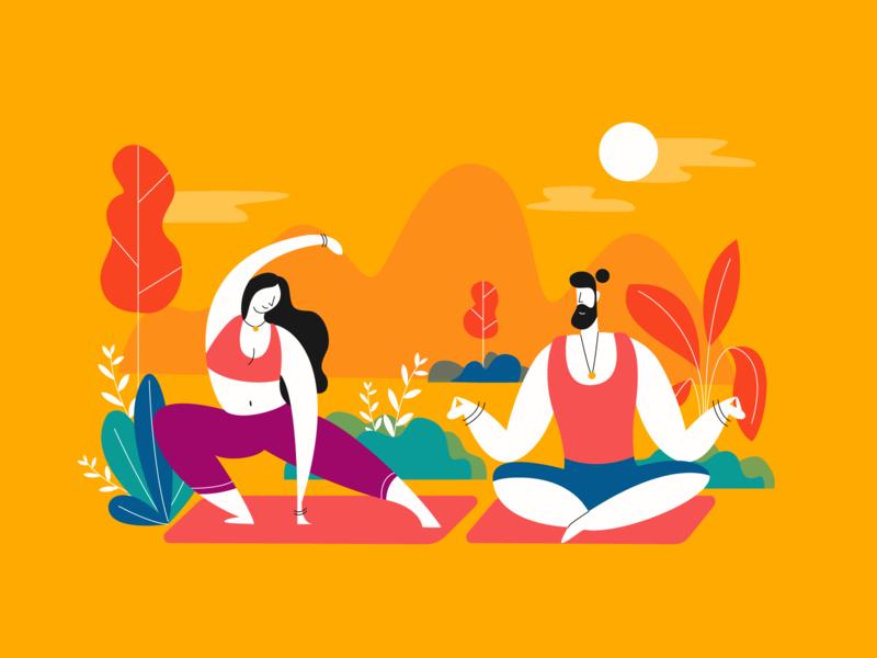 Simpline illustrations Pack ui avatar vector illustration pack illustration valentine romance collaboration team meditation yoga web illustrations character illustration