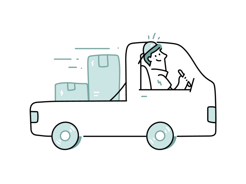 Package Delivery illustration dutone minimal outline line illustrations delivery man parcel illustration delivery package