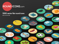 1000 Flat Vector Icons Set