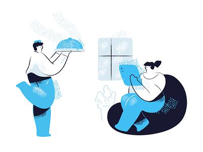 Zima Blue illustrations Update brush cute duotone character design web illustrations illustrator vector character blue zima blue illustration