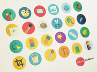 1000 Flat icons Set - Graphic Design set