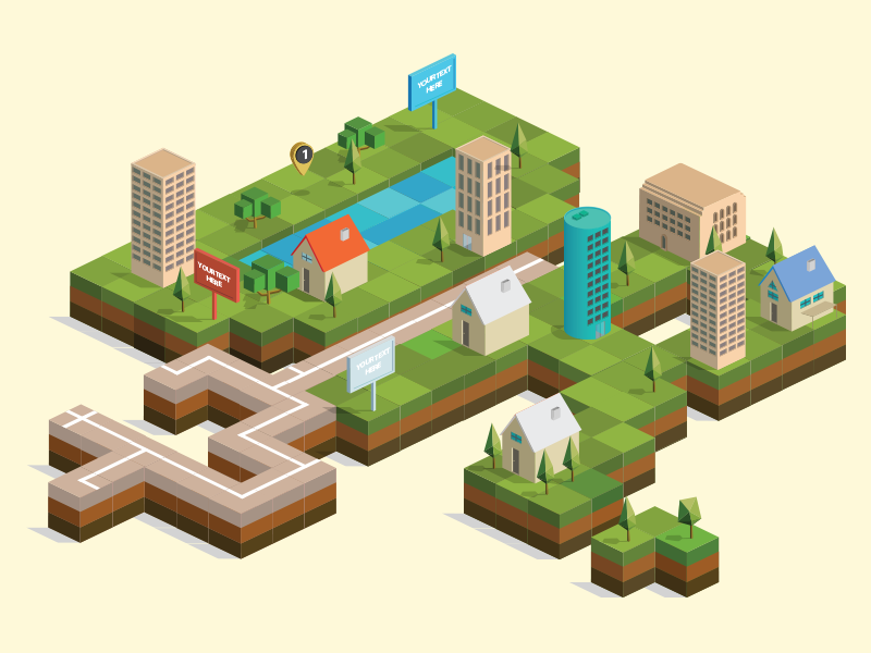 isometric city builder vector pack by ramy wafaa dribbble dribbble