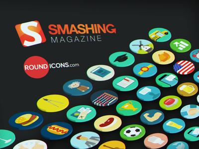 Smashing Magzine Article Featuring Round Icons Free Set smashing magazine feature round flat icons vector ui web design icon set colorful