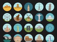 World monuments full set