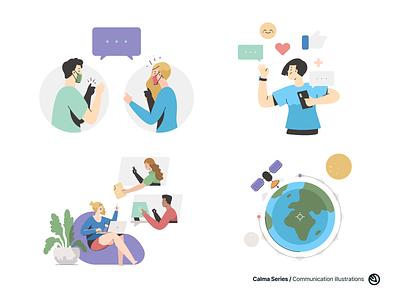Communication illustrations download figma sketch vector online meeting meeting feedback support talking conversation sattelite illustration communication
