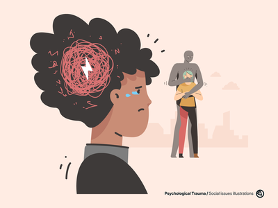 Social Issues illustrations vector illustrations problems social issues woman sad stress abuse fear trauma psychological