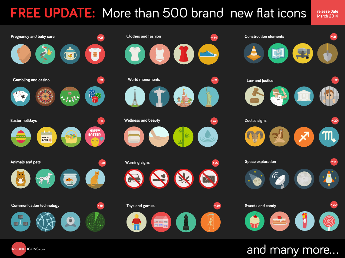 dribbble 500 flat icons set preview png by ramy wafaa