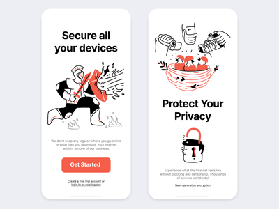 Doodle illustrations App UI page builder page layout screen app security app getillustrations landing hand drawn security candy privacy doodle outline illustration