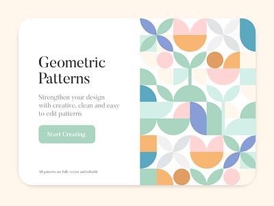 Geometric Patterns Background ui ux design branding seamless colorful flat getillustrations ui design ui  ux website app vector background pattern geometric