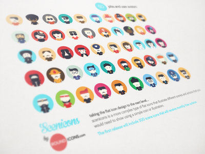 Scenicons User Avatars and Jobs Flat Icons