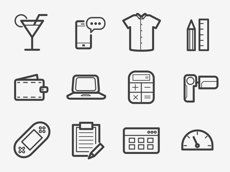 Boldicons  1000 Outline Icons outline icons iconset line vector clean stroke ios ui web icons