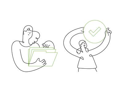 One line illustrations people startup sas business creative one line getillustrations simple minimal vector illustrations outline continuous line line illustration