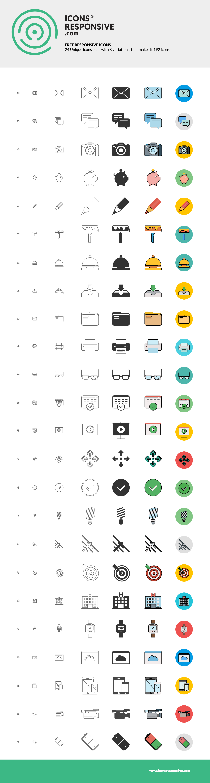 Dribble icons responsive free set