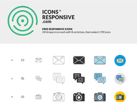 Dribble icons responsive free set