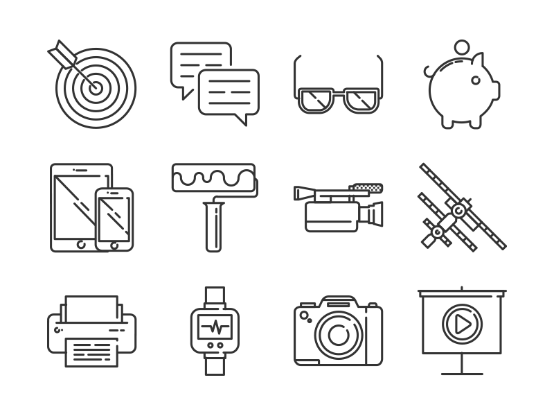 Free Responsive icons set - 192 Icons freebie free design material ios 8 line pixel perfect mini vector icons set icons responsive