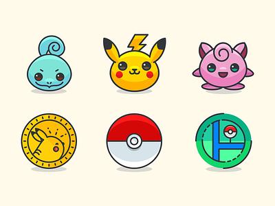 100 Free Pokémon Go Icons pikachu icon app application vector outline filled icon set icons pokemon go pokémon free