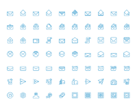 Native icons contact line icons