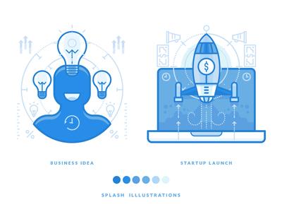 Startup Icon Illustrations