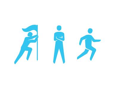 Stick Man Figure Icons 01