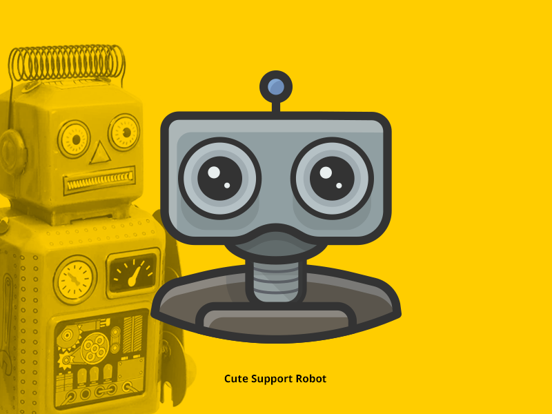 Support Robot Avatar Icon