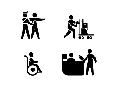 Airport Glyph Icons