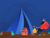 Camping illustration background