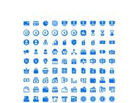 Roundies business and finance set 200 icons