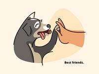Dog Freehand Line Illustration