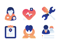Medical Gradient Icons