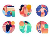 People Scene Icons