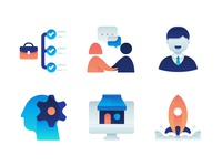 Gradient Business Icons