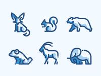 Animals Line Icons Duo Tone