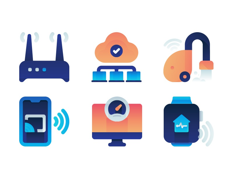 Smart Devices Material  Icons ui gradient color icon devices smart icon set icons material