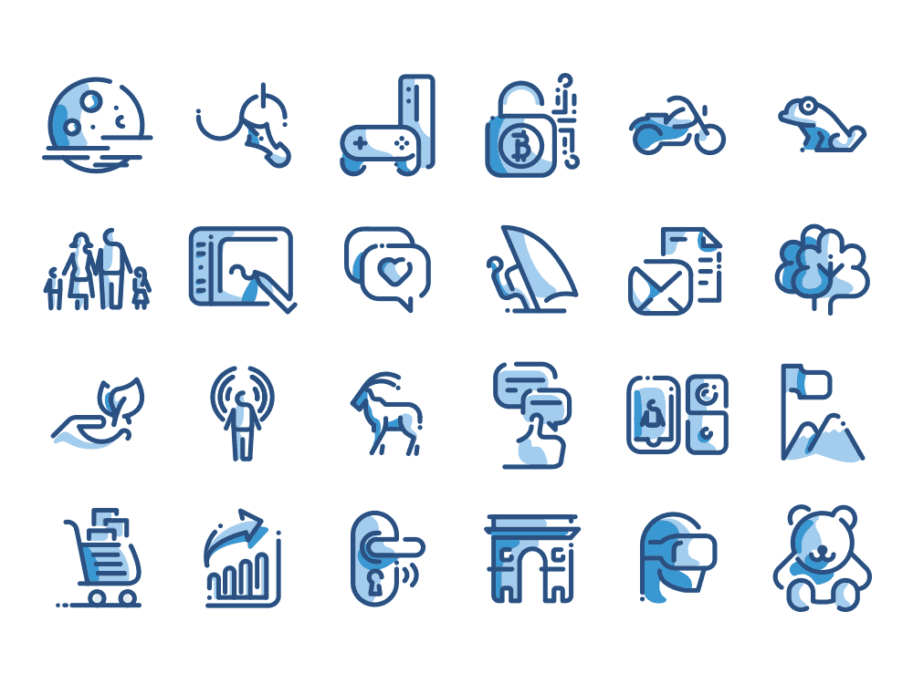 Line icons pack dual tone
