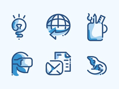 500 Line icons duo tone pack