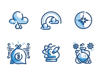 1000 Line Icons Duo Tone Pack