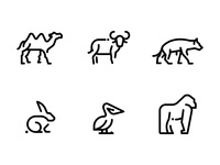 Animals Line Icons Pack