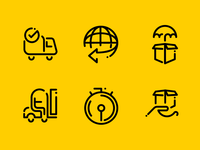 Shipping Minimal Line Icons