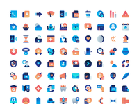 Free gradient icons pack