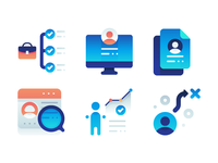 Business Employment And User Icons