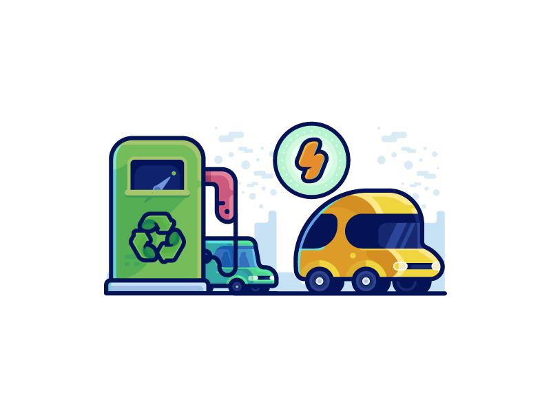 Electric Car Icon By Ramy Wafaa On Dribbble