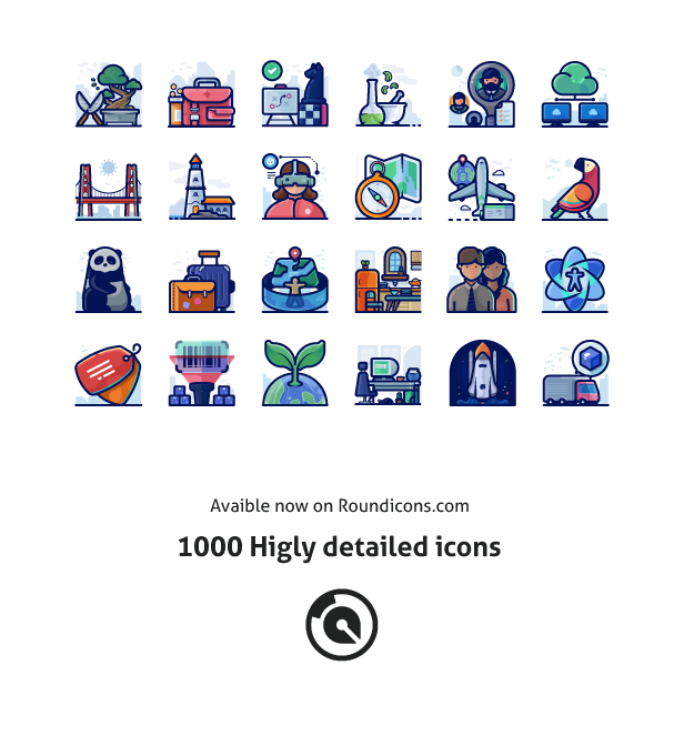 Detailed icons