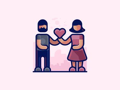 Valentine People Icon
