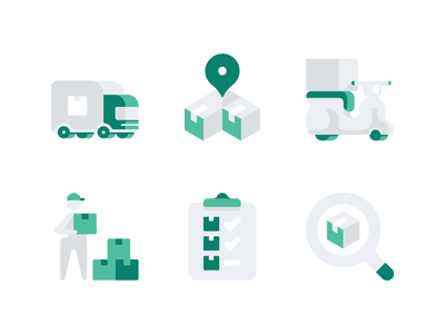 Shipping And Logistics Icons ui vector clean website web flat accent icon set logistics shipping icons
