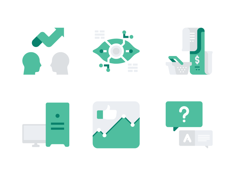 Accent Icons Pack Release website chart faq shopping analytics business branding icon set vector icon icons