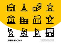 Minimal Travel Icon Set
