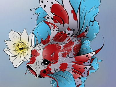 Koi Carp Illustration koi illustration koi vector art illustrator illustration
