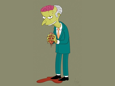 Mr Burns Illustration simpsons vector art illustrator illustration