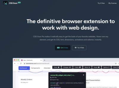 CSS Scan Pro - The definitive browser extension for web design.