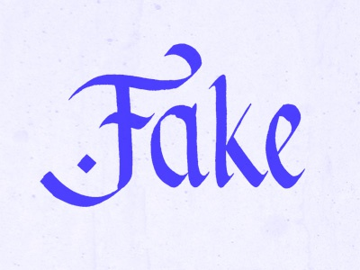 Fake calligraphy type lettering